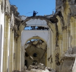 Salvaging Rebar in Haiti Cathedral
