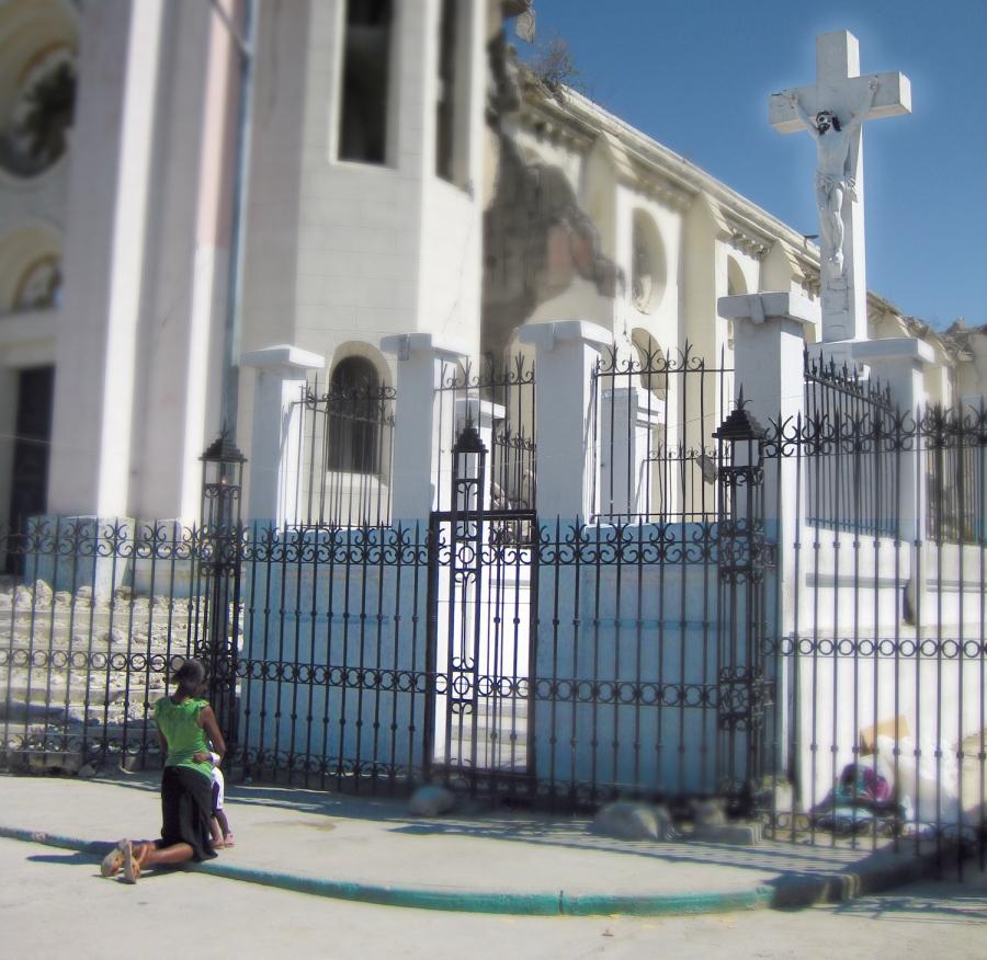 Praying in Haiti