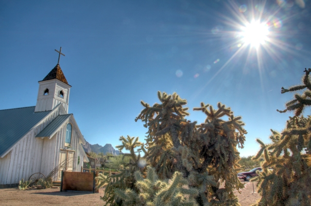 Desert Church, ghost town