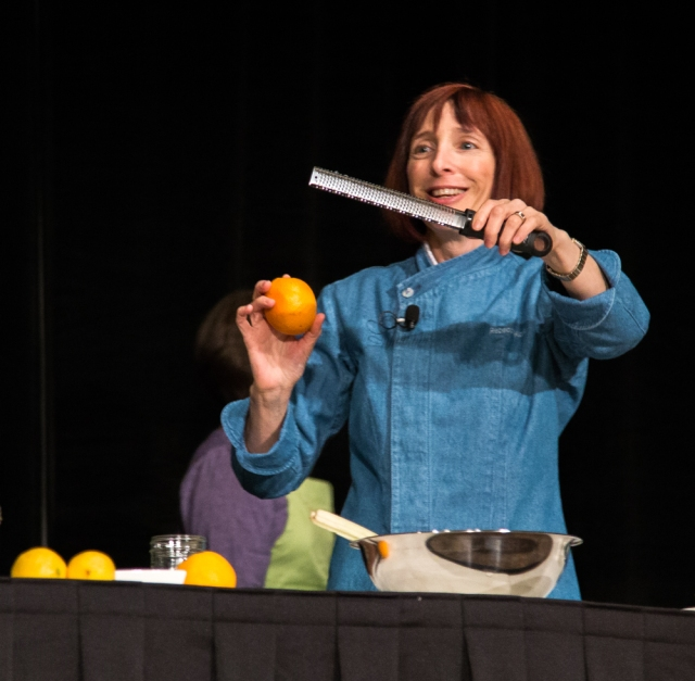 Rebecca Katz and one of her favorite toys for zesting.