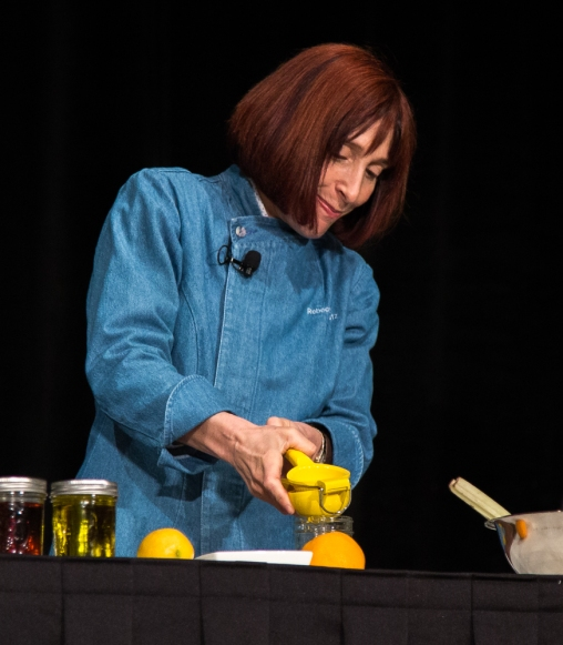 Rebecca Katz gets her exercise squeezing lemons